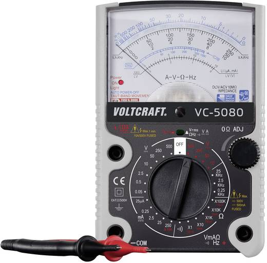 VOLTCRAFT VC-5080 Hand-Multimeter analog Kalibriert nach: Werksstandard (ohne Zertifikat) CAT III 500 V