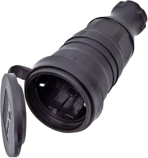 interBär 9005-004.01 Schutzkontaktkupplung Gummi 230 V Schwarz IP44