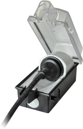 Aufputz-Steckdose abschließbar IP44 Schwarz, Transparent interBär 9015-001.01