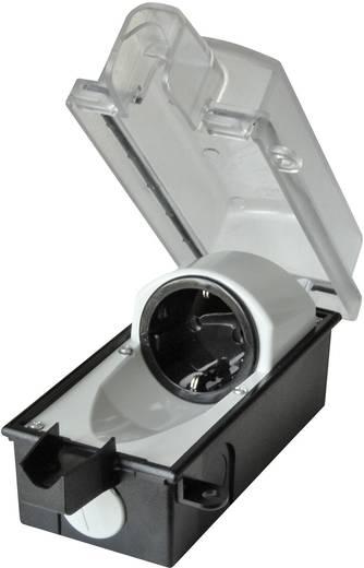interBär 9015-001.01 Aufputz-Steckdose abschließbar IP44 Schwarz, Transparent