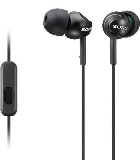 Kopfhörer Sony MDR-EX110AP In Ear Headset Schwarz