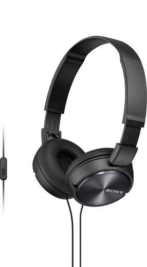 Sony MDR-ZX310AP Kopfhörer On Ear Headset, Faltbar Schwarz