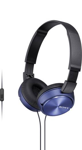 Sony MDR-ZX310AP Kopfhörer On Ear Headset, Faltbar Blau