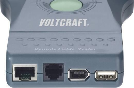 VOLTCRAFT® CT-5 Kabel-Prüfgerät, Kabeltester Geeignet für RJ-45, BNC, RJ-11, IEE 1394, USB