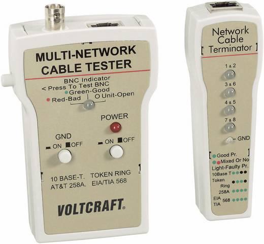 VOLTCRAFT® CT-1 Netzwerk-Kabeltester BNC, RJ-45, 10Base-T (UTP/STP), AT&T 258A, TIA 586A/B, Token Ring