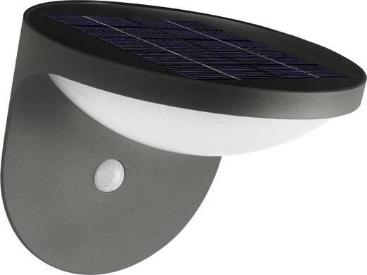 Solar-Außenwandleuchte mit Bewegungsmelder 1.5 W Warm-Weiß Philips Lighting 17808/93/16 Dusk Anthrazit