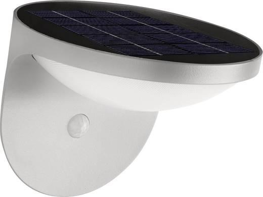 Solar-Außenwandleuchte mit Bewegungsmelder 1.5 W Warm-Weiß Philips Lighting 17808/87/16 Dusk Grau