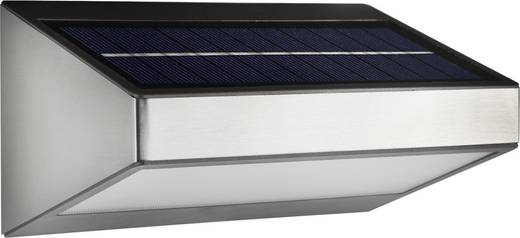 Solar-Außenwandleuchte 1.5 W Warm-Weiß Philips Lighting 178104716 Greenhouse Grau
