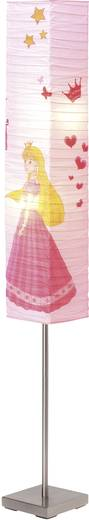 Stehlampe E14 40 W Brilliant Princess Eisen, Rosa