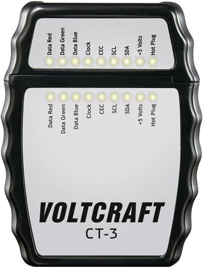 VOLTCRAFT CT-3 HDMI-Kabel-Prüfgerät, Kabeltester Geeignet für HDMI-Kabel Typ A, HDMI 1.0, 1.1, 1.2, 1.2a, 1.3a/b/c, 1.4/a
