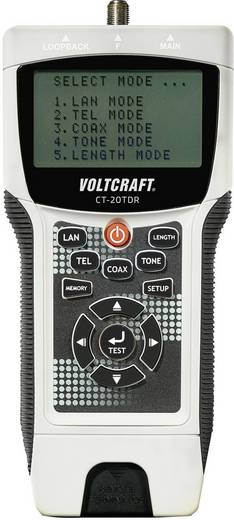 VOLTCRAFT CT-20TDR Kabeltester Geeignet für geschirmte/ungeschirmte Kabel, CAT3, CAT4, CAT5, CAT5E, CAT6, Coax