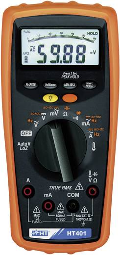 Hand-Multimeter digital HT Instruments HT401 Kalibriert nach: Werksstandard CAT III 1000 V, CAT IV 600 V Anzeige (Counts): 6000
