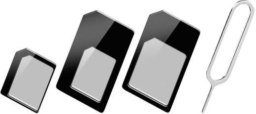 sim adapter goobay 43929 adaptiert von micro sim nano sim adaptiert auf micro sim standard. Black Bedroom Furniture Sets. Home Design Ideas