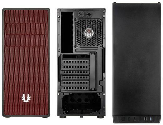 Midi-Tower USB-Gehäuse, Gaming-Gehäuse Bitfenix Neos Schwarz, Rot 1 vorinstallierter Lüfter, Staubfilter