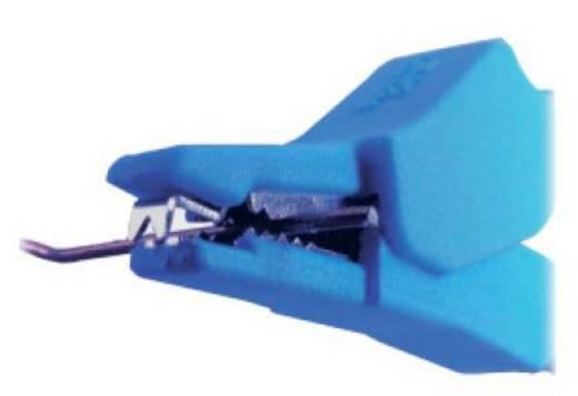 Sicherheits-Abgreifklemme Steckanschluss 2 mm CAT III 600 V Schwarz MultiContact SKK-200 SW
