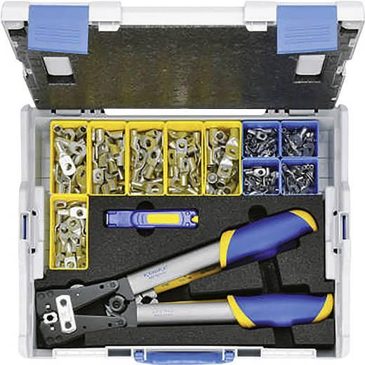 Crimpzangen-Set 223teilig Rohrkabelschuhe, Rohrverbinder 6 bis 50 mm² Inkl. Kabelschneider, Inkl. Kabelmesser, Inkl. Roh