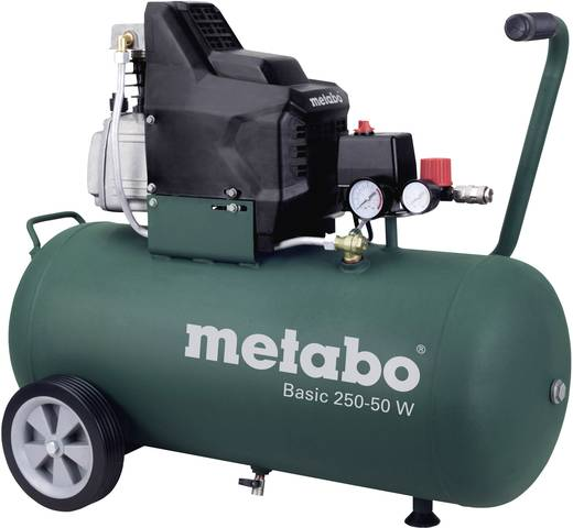 Druckluft-Kompressor 50 l 8 bar Metabo Basic 250-50 W
