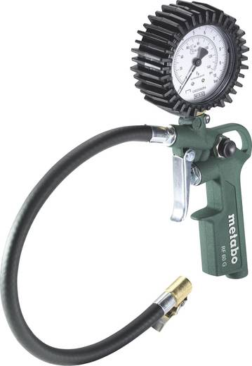 "Druckluft-Reifenfüller 1/4"" (6.3 mm) 10 bar Metabo RF 60 G Kalibriert nach: Werksstandard (ohne Zertifikat)"