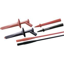 Sada měřicích kabelů banánek 4 mm ⇔ banánek 4 mm MultiContact CAT IV, 1 m, černá/červená