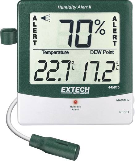 Extech 445815 Luftfeuchtemessgerät (Hygrometer) 10 % rF 99 % rF Taupunkt-/Schimmelwarnanzeige Kalibriert nach: DAkkS
