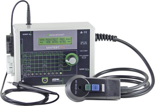 Gerätetester Gossen Metrawatt MINITEST Base DIN VDE 0701-1: 2000 und DIN VDE 0702: 2004 Kalibriert nach DAkkS