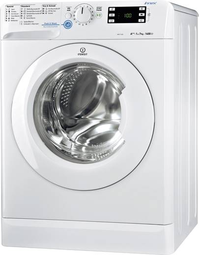 Waschmaschine Frontlader 7 kg Indesit XWE 71483X W DE Energieeffizienzklasse (A+++ - D): A+++ 1400 U/min