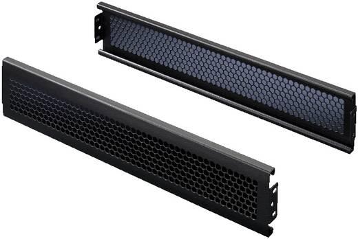 Flex-Block Blende belüftet (B x H) 600 mm x 100 mm Stahlblech Schwarz (RAL 9005) Rittal TS 8100602 2 St.