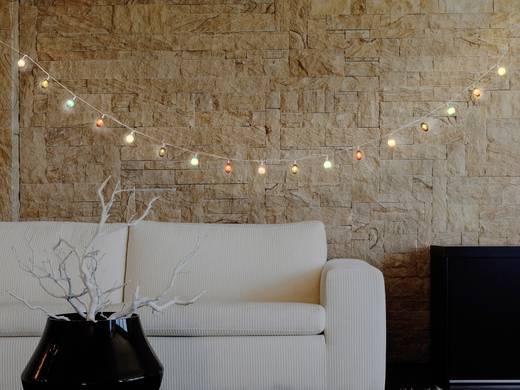 Polarlite LBA-20-005 Motiv-Lichterkette Lampion Innen batteriebetrieben 20 LED Warm-Weiß
