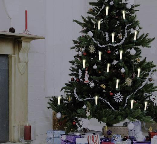 Polarlite LBA-30-003 Funk-Weihnachtsbaum-Beleuchtung Kerze Innen batteriebetrieben 10 LED Warm-Weiß