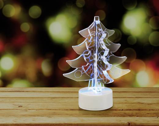 Polarlite LBA-51-011 LED-Weihnachtsdekoration Weihnachtsbaum RGB LED Transparent