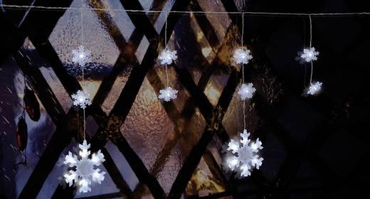 Polarlite PDC-03-002 Motiv-Lichterkette Schneeflocken Außen netzbetrieben 70 LED Kalt-Weiß