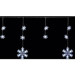 Vonkajšia svetelná reťaz Polarlite PDC-03-002, 70 LED, 9 m, do siete, snehová vločka