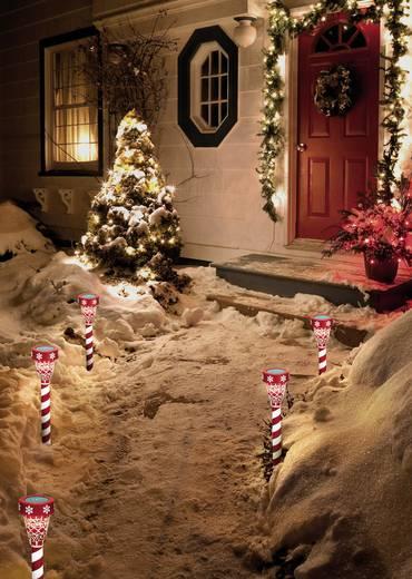 LED-Weihnachtsdekoration Warm-Weiß LED Polarlite PSL-02-001 Rot/Weiß