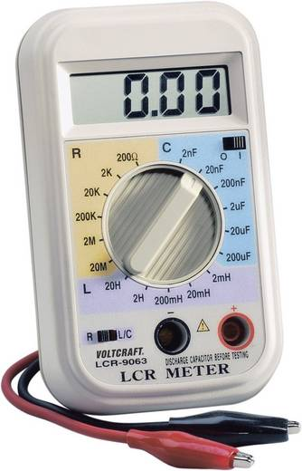 VOLTCRAFT LCR-9063 Komponententester digital Kalibriert nach: Werksstandard (ohne Zertifikat) CAT I Anzeige (Counts): 2
