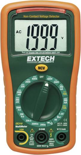 Hand-Multimeter digital Extech EX310 Kalibriert nach: DAkkS CAT III 600 V Anzeige (Counts): 2000