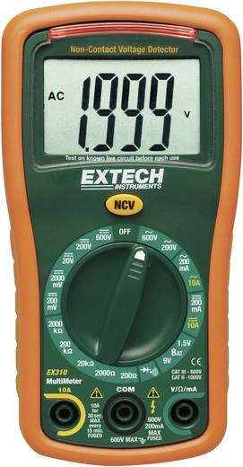 Hand-Multimeter digital Extech EX310 Kalibriert nach: ISO CAT III 600 V Anzeige (Counts): 2000