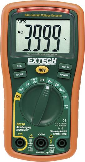 Hand-Multimeter digital Extech EX330 Kalibriert nach: ISO CAT III 600 V Anzeige (Counts): 4000