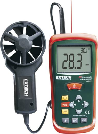 Anemometer Extech AN200 0.4 bis 30 m/s Kalibriert nach Werksstandard (ohne Zertifikat)
