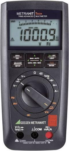 Hand-Multimeter digital Gossen Metrawatt METRAHIT TECH Kalibriert nach: DAkkS CAT III 1000 V, CAT IV 600 V Anzeige (Counts): 12000