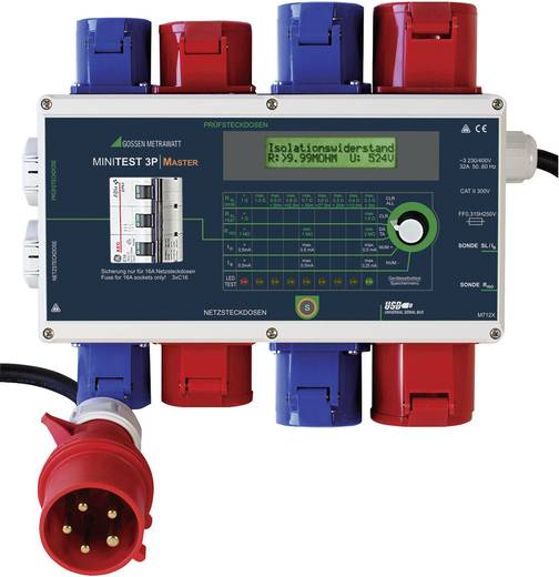 Gerätetester Gossen Metrawatt MINITEST 3P MASTER DIN VDE 0701-1: 2000 und DIN VDE 0702: 2004