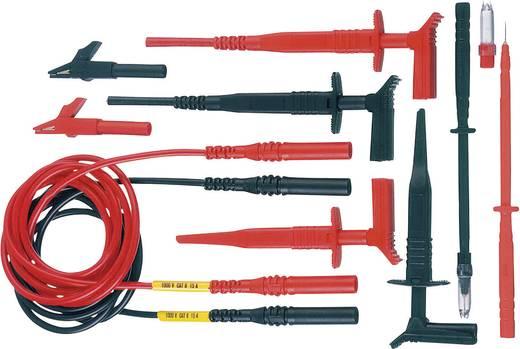 Sicherheits-Messleitungs-Set [ Lamellenstecker 4 mm - Lamellenstecker 4 mm] 1 m Schwarz, Rot MultiContact Z4S-300