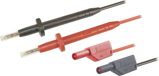 Sicherheits-Messleitungs-Set [ Lamellenstecker 4 mm - Prüfspitze] 1 m Schwarz, Rot Stäubli SMK425-AR/425-E/N 100 CM