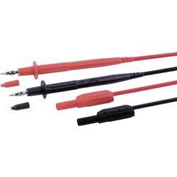 Sada měřicích kabelů banánek 4 mm ⇔ banánek 4 mm MultiContact MC-3, 1 m, černá/červená