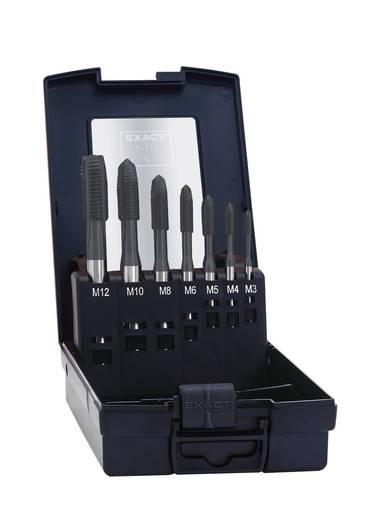 Maschinengewindebohrer-Set 7teilig metrisch Rechtsschneidend Exact 02494 DIN 371, DIN 376 HSS-E Form B 1 Set