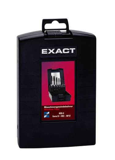 Exact 02494 Maschinengewindebohrer-Set 7teilig metrisch Rechtsschneidend DIN 371, DIN 376 HSS-E Form B 1 Set