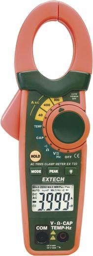Stromzange, Hand-Multimeter digital Extech EX720 Kalibriert nach: Werksstandard (ohne Zertifikat) CAT III 600 V Anzeige