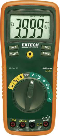 Extech EX420 Hand-Multimeter digital Kalibriert nach: ISO CAT III 600 V Anzeige (Counts): 4000