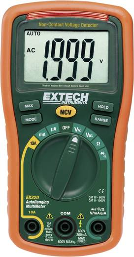Extech EX320 Hand-Multimeter digital Kalibriert nach: DAkkS CAT III 600 V Anzeige (Counts): 2000