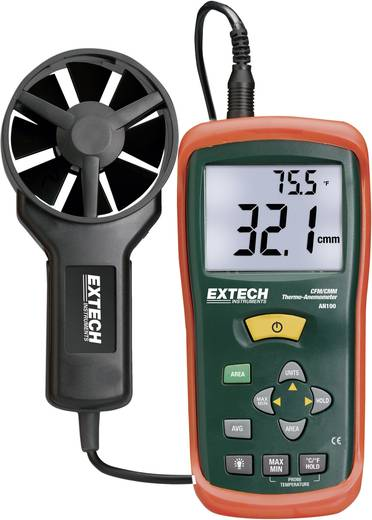 Anemometer Extech AN100 0.4 bis 30 m/s Kalibriert nach Werksstandard (ohne Zertifikat)