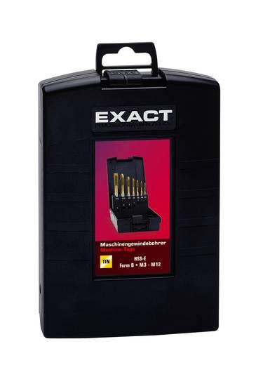 Maschinengewindebohrer-Set 7teilig metrisch Rechtsschneidend Exact 03678 DIN 371, DIN 376 HSS-E Form C 1 Set